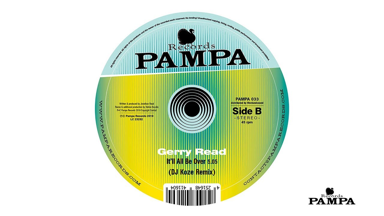 Gerry Read – It'll all be over (DJ Koze Remix) (PAMPA033)